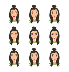 female young character face vector image