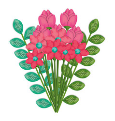 Floral bouquet isolated icon vector