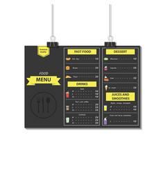 Food menu template design vector