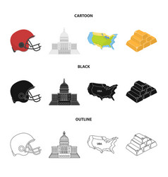 Football player helmet capitol territory map vector