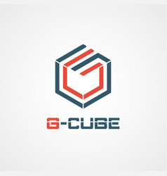 g cube logo symbol icon vector image