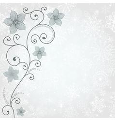 Gentle winter background vector image