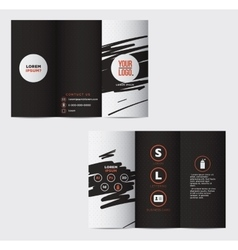Graphic elegant abstract business brochure vector