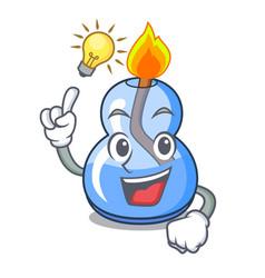 Have an idea alcohol burner mascot cartoon vector