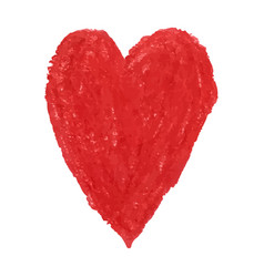 heart shape drawn with red colored vector image