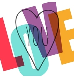 I love you vector image