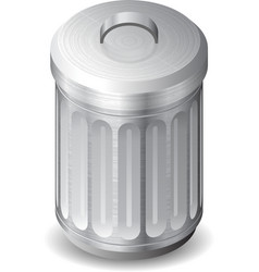 Icon for garbage can vector image