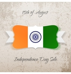 India Independence Day festive Tag vector image