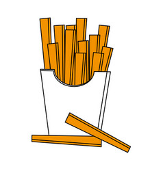 isolated fast food french fries icon vector image