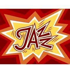 Jazz word vector image