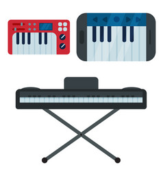 keyboard musical instruments isolated classical vector image