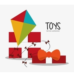 Kite toy and game design vector image