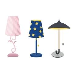 Lamps furniture set light design electric vector image