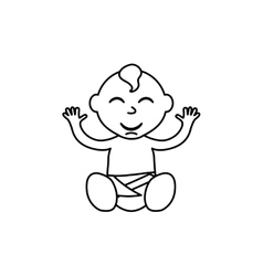 Little baby cartoon vector