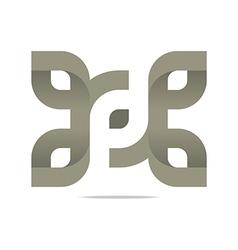 Logo Letter Infinity Alphabet Lettering Design vector image