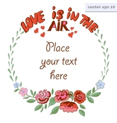 Love is in the air frame vector