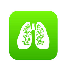 lungs icon digital green vector image