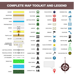 map icon legend symbol sign toolkit element a vector image