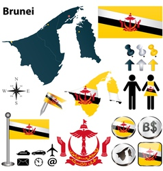 Map of Brunei vector