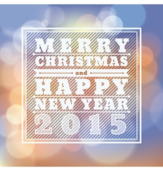 Merry christmas happy new year 2015 greeting card vector