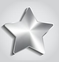 Metal star background vector