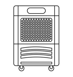 mobile house conditioner icon outline style vector image