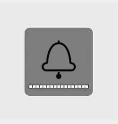 modern bell icon with a volume scale vector image