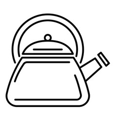 modern kettle icon outline style vector image