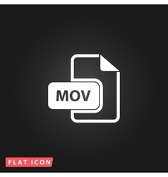 MOV video file extension icon vector image