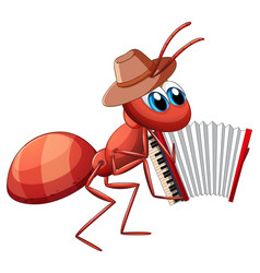 Mucian ant playing accordion vector