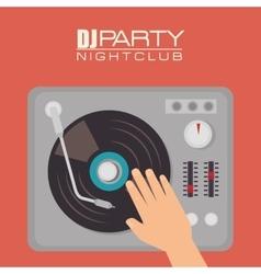 Music dj party theme vector