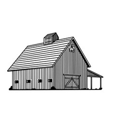 old cow barn vector image