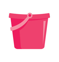 Pink toy bucket icon in flat style vector
