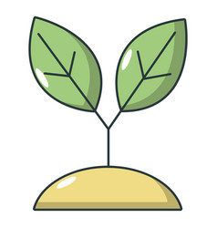 plant sprout icon cartoon style vector image