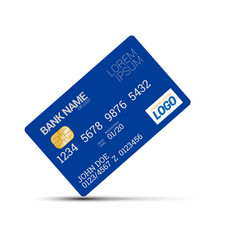 plastic card template vector image