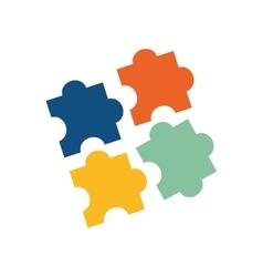 Puzzle game pieces vector image