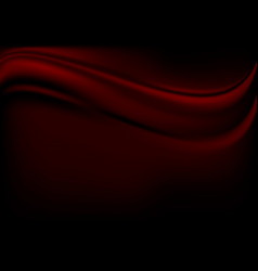 Red luxury fabric on black background vector
