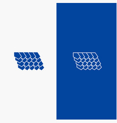 Rotile top construction line and glyph solid vector