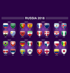 Russia 2018 fifa world cup group competitions vector
