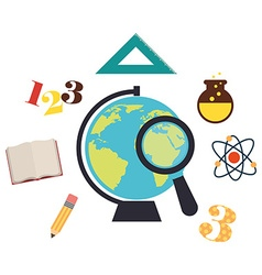 school elements design vector image