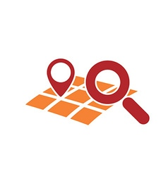 searching geo location vector image