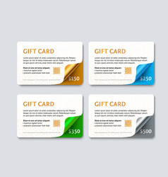 Set gift discount cards vector
