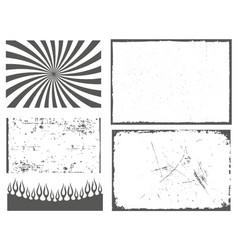 set grunge effect for poster leaflet vector image