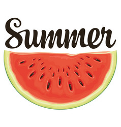 Summer banner with a funny watermelon vector