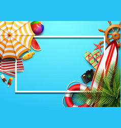summer holidays blank background vector image