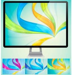 Swirly Abstract Background vector image