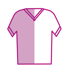 T-shirt male isolated icon vector