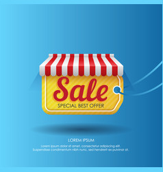 tag with sale advertising in design vector image