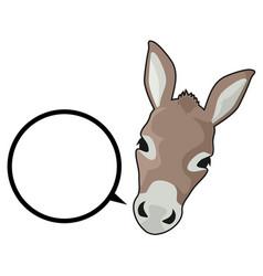 Talk donkey vector