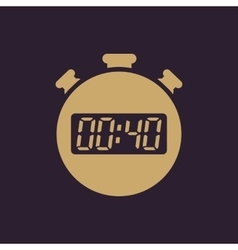 The 40 seconds minutes stopwatch icon Clock and vector image